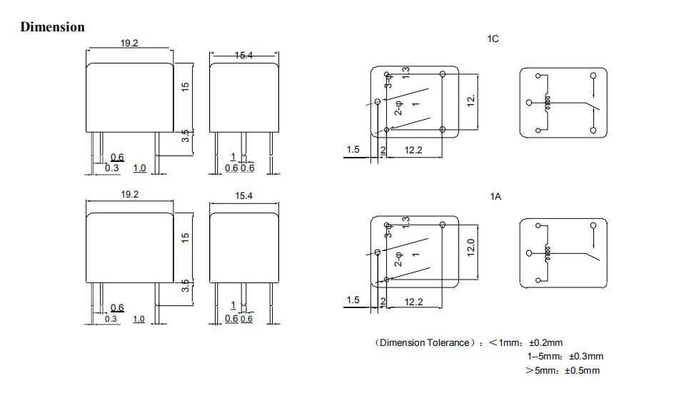 T73 Jqc 3ff 5vdc 12v 10a 15a Mini Pcb Relay Relais 5v Dc