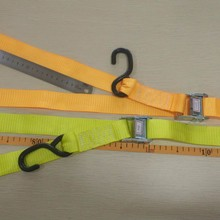 35mm width cam buckle tie down straps with S hook stainless steel climbing buckle
