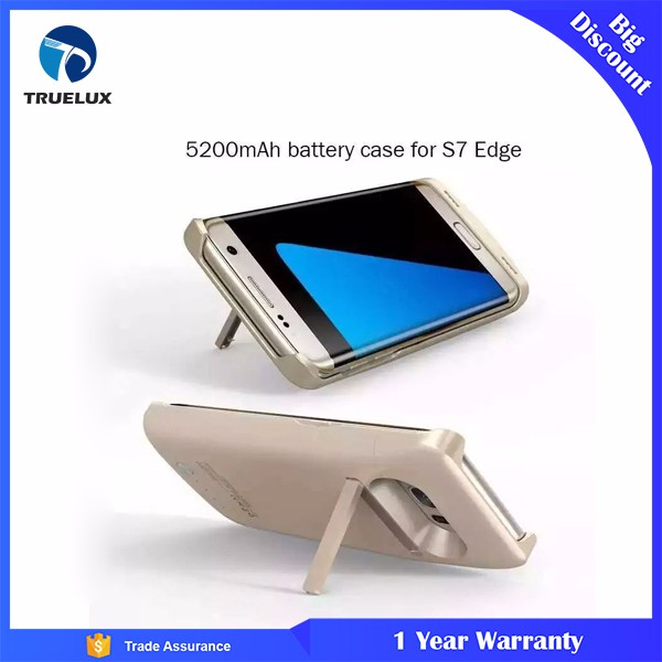 New Rechargeable External 5200 mAh Battery Case Fast Charger Cover Power Bank Fit For S7 Edge