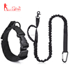Custom tactical dog training leash and collar set heavy duty nylon bungee lead
