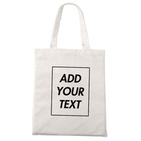 2019 Promotional Plain Eco Custom Stand Size 10oz Cotton Canvas Tote Bag For Shopping