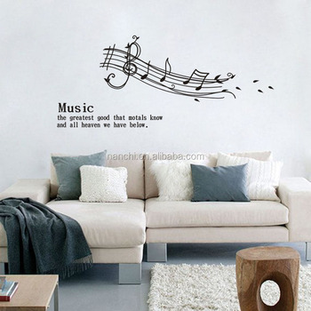 Melodious Notation Vinyl Wall Stickers Quotes For Living Room Diy Home  Decor Removable Decals Arts Musical
