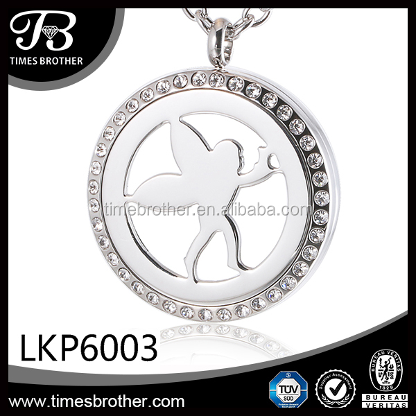 surgical stainless steel laser cutting parttern photo locket pendant