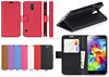 new model flip wallet card holder leather cell phone cover case for Samsung Galaxy S5 mini