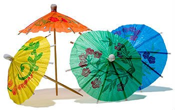 Craft Cocktail Paper Parasol Toothpicks   Buy Colored Paper