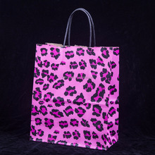 Hot sale recycle custom printed pink paper bag
