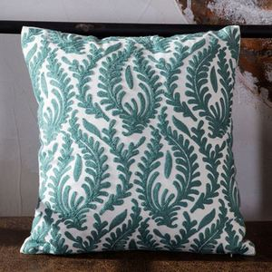 Crewel Embroidery Geometrical Throw Pillow Cover linen pillow covers 20x20 sofa cushion covers