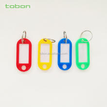 Promotional plastic luggage tags key chain key tags