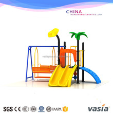 Vasia wenzhou toys Garden plastic outdoor playground swing and slide/outdoor playground equipment