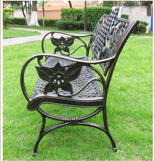 Te negro maquina de lujo de estilo europeo de dise o banco de jard n de hierro forjado bancos - Bancos de hierro para jardin ...