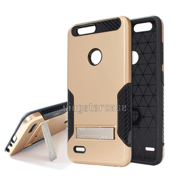 innovative design 9c39b 4fbb9 (metropcs) For Zte Z982 Case Shockproof Carbon Fiber Pattern Kickstand  Phone Case For Zte Sequoia/zmax Pro 2 - Buy Case For Zte Sequoia,Phone Case  For ...