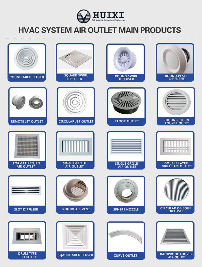 Round Type Swirl Air Duct Diffuser In The Best Quality