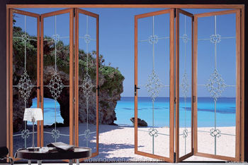 Double glazed doors prices PVC horizontal sliding folding doors with plastic insertsPVC grill design & Double Glazed Doors Prices Pvc Horizontal Sliding Folding Doors ... Pezcame.Com
