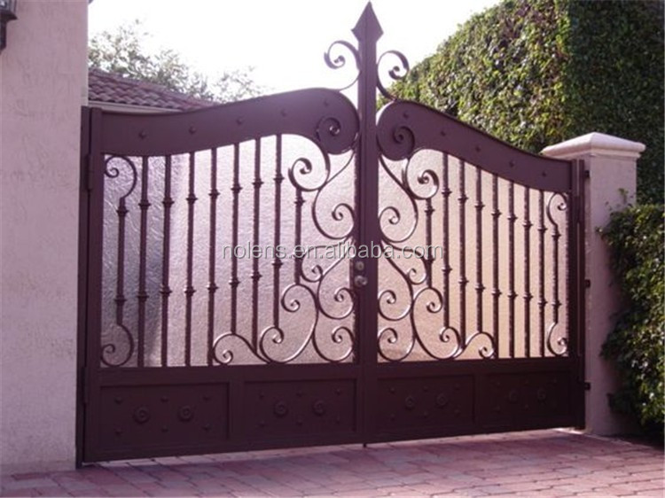 Beautiful Wrought Iron Scroll Decor Luxury Mian Gate