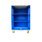 China professional utility plastic cloth storing and transporting cart/ laundry cage trolley