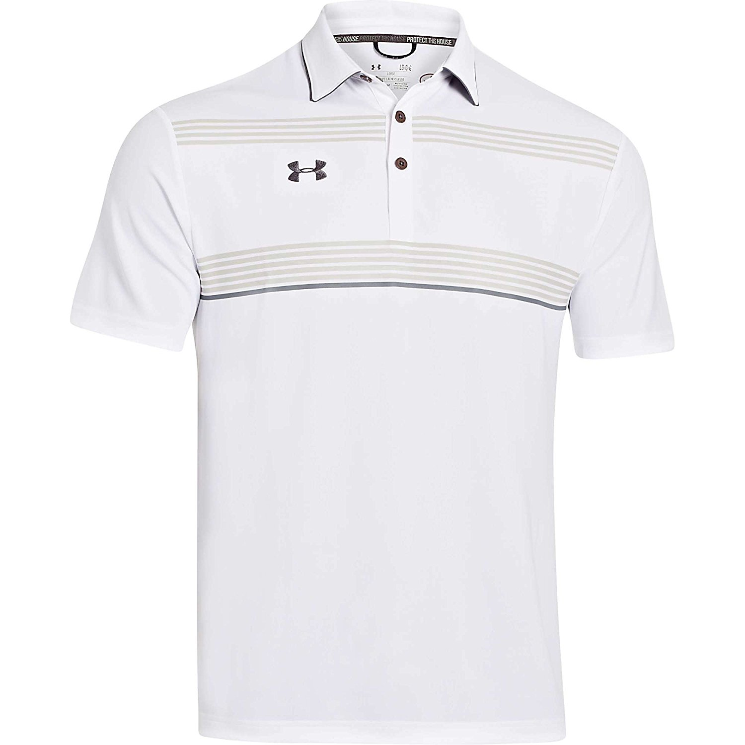 aaa8b240c3d6fe Get Quotations · Under Armour Men s Conquest On-Field Polo Shirts Small  White Steel Graphite