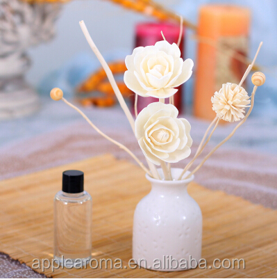 Fireless Aroma Reed Diffuser Oil Gift Set with Sola Flower