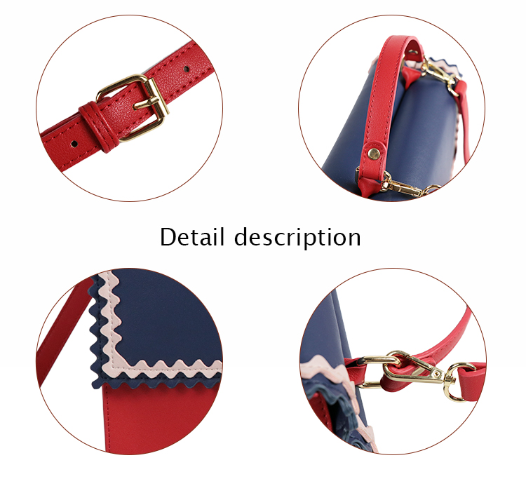 Guangzhou handbag Manufacturer Customized PVC leather fashion lady designer women shoulder bag