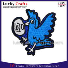 Factory Price Wholesale Custom Logo Cute Eeagle Woven Embroidery Patch