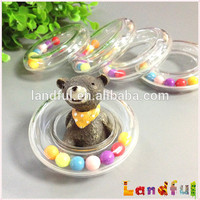 Colourful Circle Baby Plastic Ring Rattle Insert Teether Toy For Gift