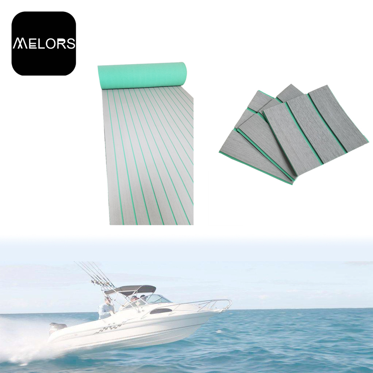 Melors 90in x 35in EVA Non Skid Flooring Deck Pads EVA Foam Faux Teak For Boats