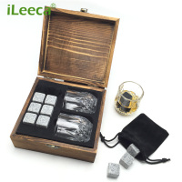 Promotion Liquor and Wine Cooler Black Whiskey Ice Stones Granite Gift Set Beverage Chilling Rocks