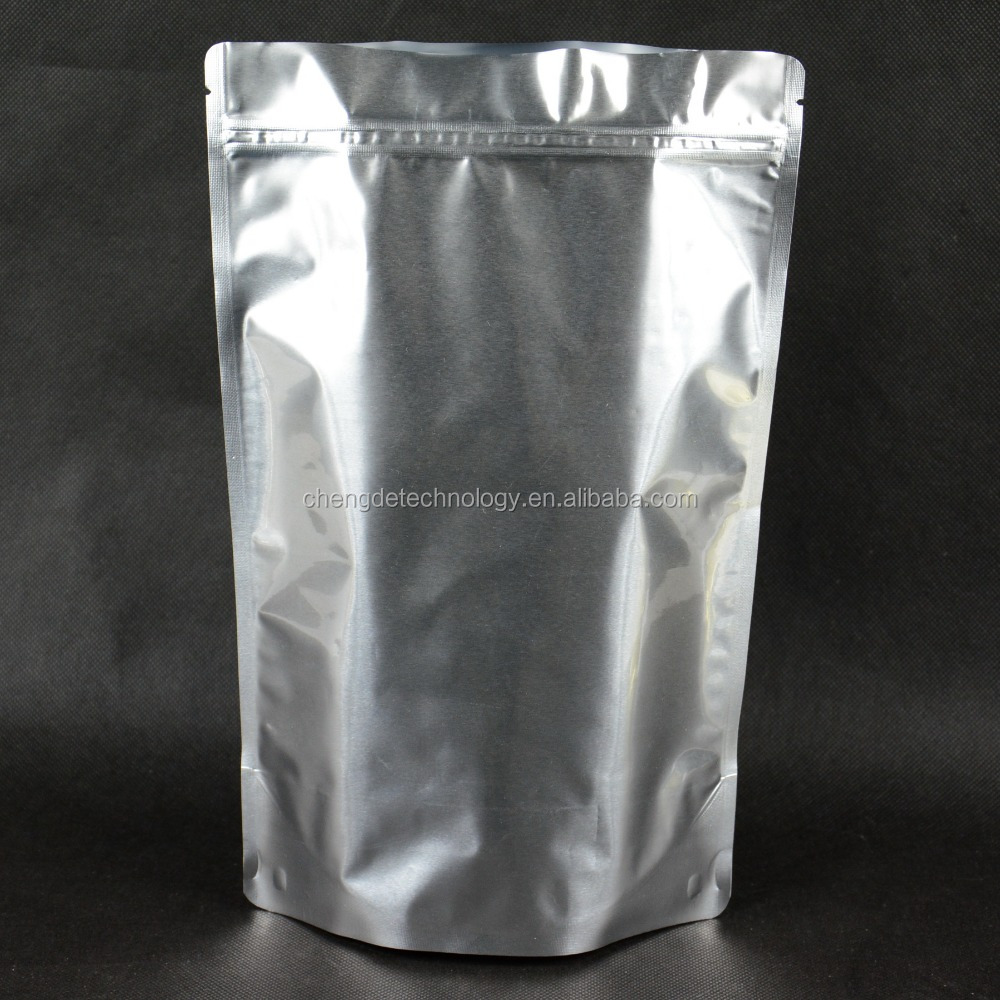 Plain Universal Aluminue foil Stand Up bag with Zip for <strong>food</strong>
