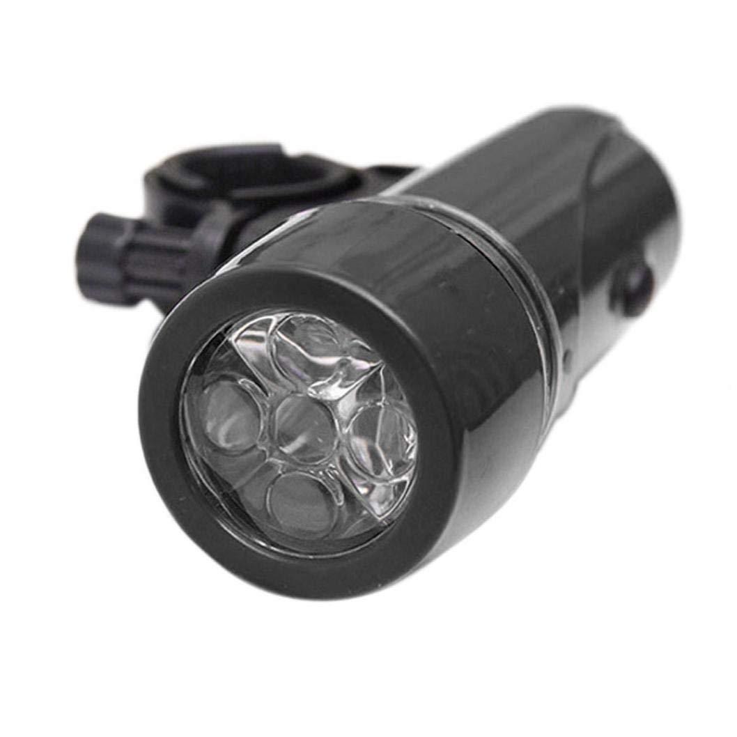 Quaanti Bicycle Light Cycle Zone Waterproof 5 LED Bicycle Light Bike Headlight Safety Flashlight (Black)