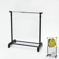 Single Tier Adjustable Fashion Metal Clothes Hanger Stand
