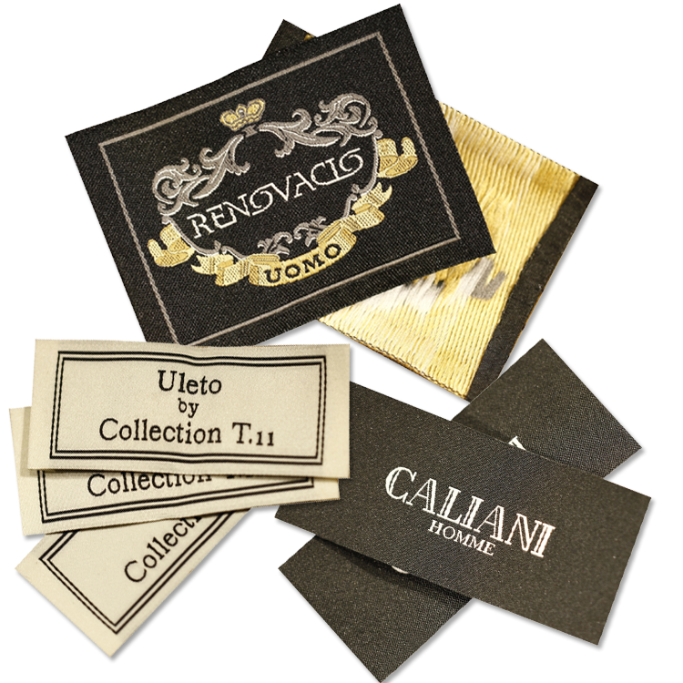 Wholesale Custom Brand Logo Damask Fabric Woven Label for Clothes