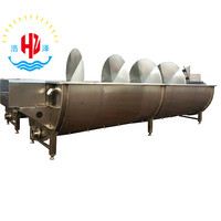 Halal Poultry spiral precooling machine for Poultry Duck Goose Rabbit Broiler Chicken Slaughter Plant