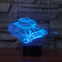 FS-3614 Tank Cool 3D Light 3D NightLight Led Gift Items