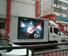 bus truck trailer movable advertising P16mm led display screens