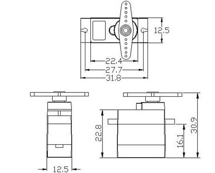 lvh s0090md ada kesenjangan digital metal gear 9g sg90 micro servo motor