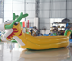 Giant inflatable water dragon boat model for outdoor event