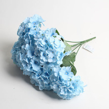 Wholesale cheap artificial flower blue hydrangea mini silk flowers