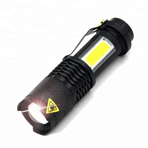 Japan adjustable zoomable focus 3W COB LED torch light tactical flashlight mini led flashlight