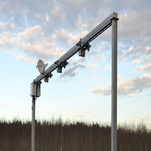 steel galvanized monitor pole with traffic sign pole
