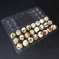 Factory price clear disposable 24 cells plastic quail egg tray