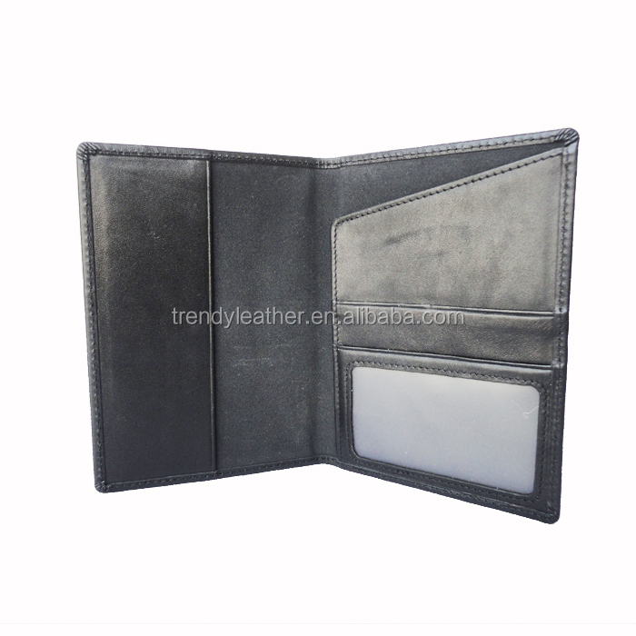 Custom leather passport holder, High quality genuine leather passport cover
