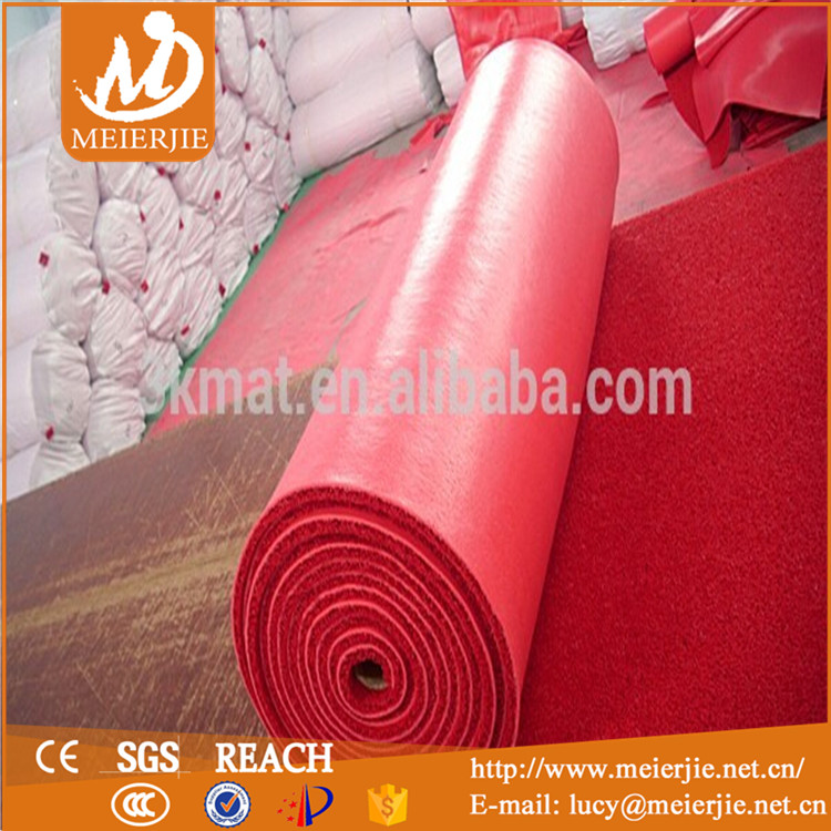 waterproof rubber pvc coil cushion mat pvc floor mat carpet