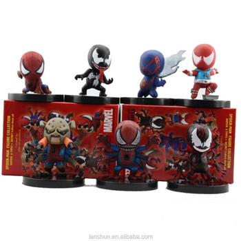Spider Man Spiderman 6 Types + 1 Secret Set Figure Collection Toy ...