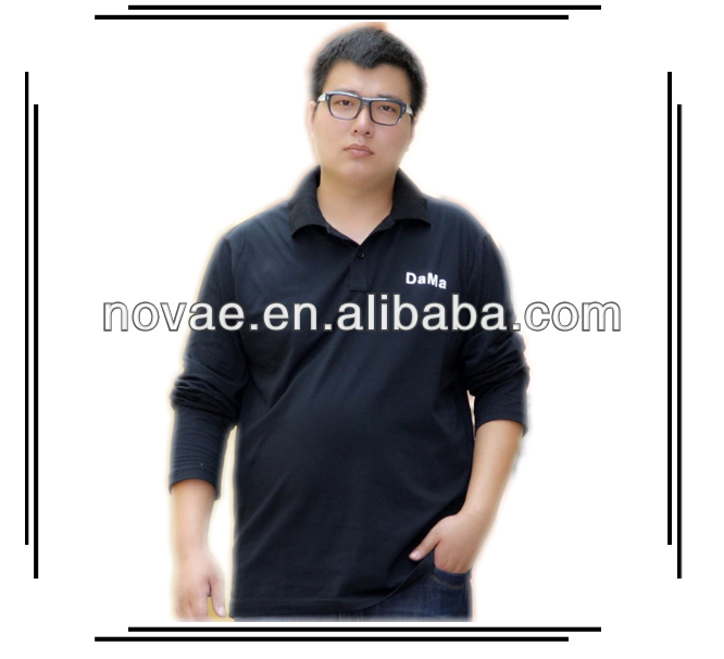 100% Polyester Polo Shirt Fat Man\'s Black Long Sleeve Plus Size Men Polo  Shirts Made In China - Buy Long Sleeve Plus Size Men Polo Shirts,Man\'s  Black ...