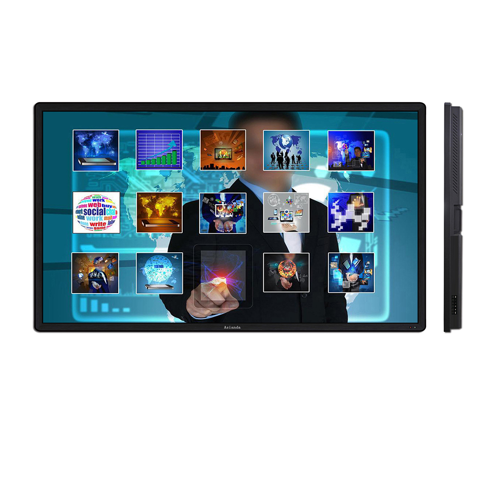 55 inch network android touch screen interactive lcd monitor digital signage totem