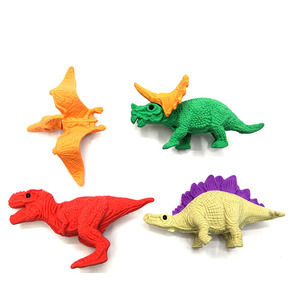 Hot Selling Promotional 3D Animal Mini Dinosaur Pencil Rubber Eraser