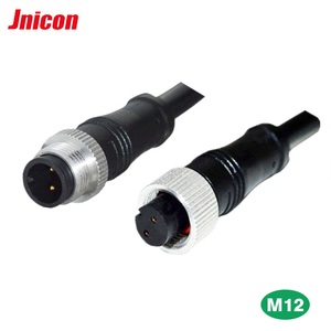 BNC M15 2PIN male to female plug and socket waterproof IP67 ip68 connector for LED
