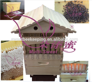 National Wooden Auto Honey Bee Hive Flow Bee Hive with Flow Frames For bees