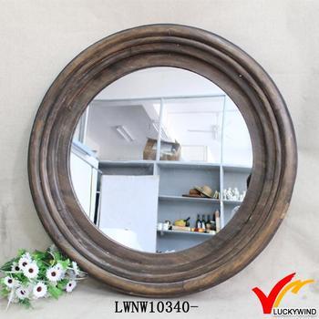 Handmade Distressed Round Decorative Wall Mirror - Buy Round ...
