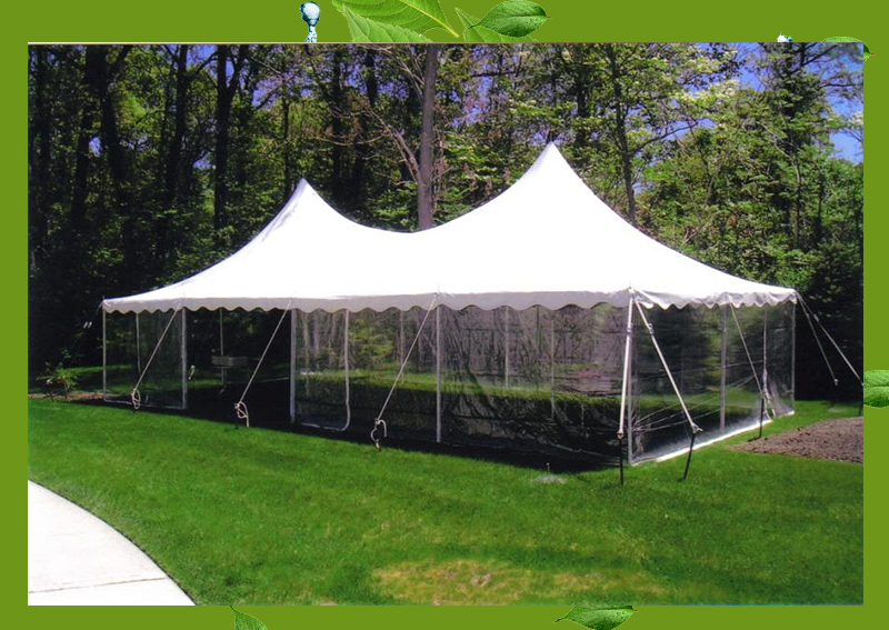 16'W x 32'D Outdoor Canvas Party Tent