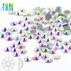 Wholesale Nail Art All Size Flat Back Non Hot Fix Rhinestone Clear White AB Flat Back Crystal Crystal AB Color